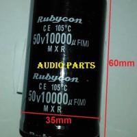 Kapasitor / Capacitor Elektrolit (Elco) 10000uF/50v Rubycon