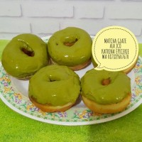 Matcha Glaze ala Jco - greentea glaze - hiasan donat