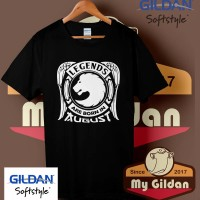 Kaos Gildan Cowok / Cewek Legend Zodiak Born in Agustus Logo