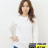 Kaos Polos Cotton Combed 20s Lengan Panjang Size 4XL-Putih & Misty