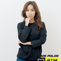 Kaos Polos Cotton Combed 20s Lengan Panjang Dewasa Size L - Warna