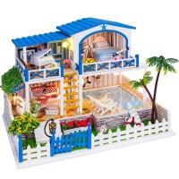 Jual hadiah mainan  Rumah rumahan Dollhouse Miniatur DIY Villa Turki YWCFS Murah