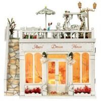 Jual hadiah mainan  DIY Miniature House Gaya Itali Plus Lampu LED Murah