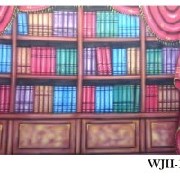 Background Foto Wisuda / Rak Buku WJII-1315 Studio Photo