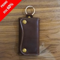 Jual Dompet STNK Kulit Sapi asli Coklat/Leather Key Chain brown/Mekafa- Murah
