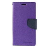 Samsung Galaxy Mega 2 Mercury Fancy Flip Case Casing - Ungu Biru