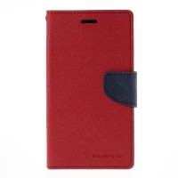 iPhone 6 plus Mercury Fancy Flip Case Casing Cover - Merah Biru