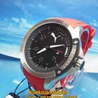 JAM TANGAN PRIA PUMA PIONEER SILVER BLACK RED PU104011003 ORIGINAL