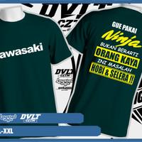 Kaos / T-shirt Kawasaki Ninja ( Pakai Ninja Bukan Berarti Orang Kaya)
