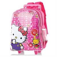Tas Sekolah Anak Hello Kitty/ Trolley Bag Inflico 456 SMT 592