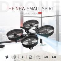 Jual Ready Stok JJRC H36 Mini Drone 2.4G Paket dapat 2 baterai, warna HITAM Murah