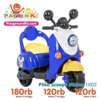 Motor Mainan Aki Anak Pliko Scoopy Mickey ( Sewa Mainan )