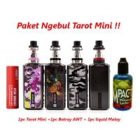 Jual Paket Hemat Siap Ngebul Tarot Mini inc batrai dan liquid Murah
