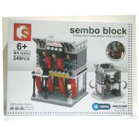 Lego City HSBC Banks with LED Lightning - Sembo block