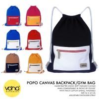 VONA Backpack Ransel Tas Punggung Kanvas Branded Murah Korea - POPO