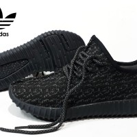 ALL BLACK ADIDAS YEEZY SNEAKERS BRANDED ASLI VIETAM