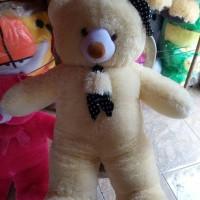 harga Boneka Teddy Bear Topi Syal Jumbo 1 Meter Tokopedia.com