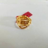 Cincin Emas asli model lempeng kotak Kadar 700 Emas 22 karat