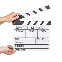 Otongede | clapper board papan sutradara hiasan putih action film unik