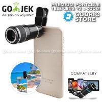Jual Premium Tele Lens 12x Lensa Smartphone Clip / Jepit Universal Murah