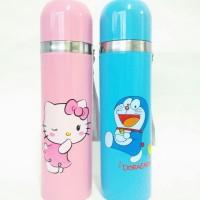 Jual Termos karakter Doraemon dan Hello kitty /Botol minum termos air panas Murah
