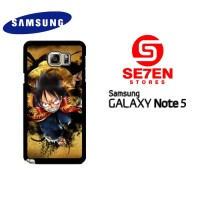 Casing Samsung Galaxy Note 5 one piece luffy background wallpaper C