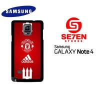 Casing Samsung Galaxy Note 4 manchester united adidas Custom Hardca