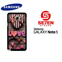 Casing Samsung Galaxy Note 5 Love Gift Custom Hardcase