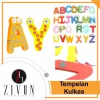 Jual Tempelan Kulkas Alfabet/ Huruf Bahan Kayu Zivon TA1 Murah