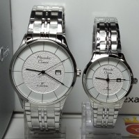 Jam Tangan Couple Alexandre Christie AC8472MDLD Classic Silver Steel