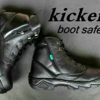 Sepatu Touring Kickers boots sleting Hitam coklat pria wanita