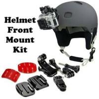 Helmet front mounting for xiaomi yi gopro mounting helm untuk vlog