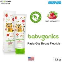 (Strawberry) Babyganics Toothpaste Pasta Gigi Anak Bebas Fluoride