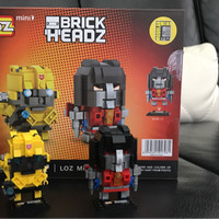 LEGO LOZ TRANSFORMER OPTIMUST PRIME & BUMBLE BEE MINI BLOCK BRICKHEADZ