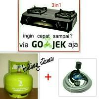 Jual kompor gas rinnai RI-302S+tabung+isi+regulator destec+selang gad winn. Murah