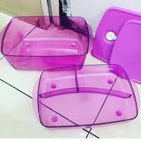 Tupperware microwaveable purple rock n serve set