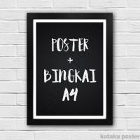All Poster Ukuran A4 + Bingkai