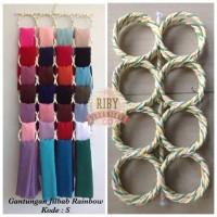 Jual Gantungan/hanger/rak jilbab ring rainbow Murah