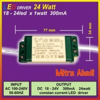 LED Driver DLY 18-24x1 Watt 300 mA AC-DC Casing Plastik