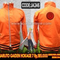 Jaket Naruto Gaiden,jaket anime naruto hokage 7 (spade anime)