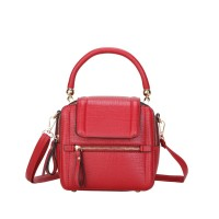 Tas Leather Kulit Impor Fashion Elegan Wanita Jinjing Handbag Tote Red