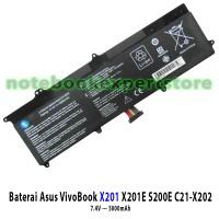 Baterai Asus X201 X201E S200E C21-X202 Battery Asus X201E