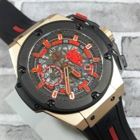 HUBLOT BIG BANG KING POWER RED DEVIL MU 2011 RUBBER ROSE GOLD