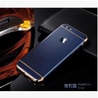 Casing HP Unik 3in1 case Apple Logo  Iphone 6 6s 6Plus 7 7Plus Navy