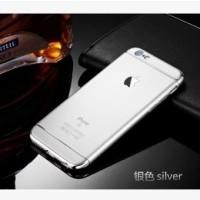 Casing HP Unik 3in1 case Apple Logo  Iphone 6 6s 6Plus 7 7Plus Silver