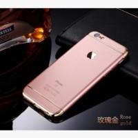 Casing HP Unik 3in1 case Apple Logo  Iphone 6 6s 6Plus 7 7Plus Rose