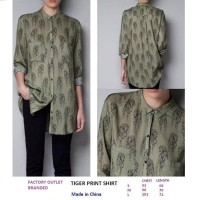TIGER PRINT SHIRT. Made in China - FASHIONME FACTORY OUTLET BRANDED