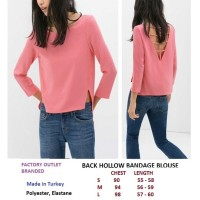 BACK HOLLOW BANDAGE BLOUSE. Made in Turkey - FO BRANDED
