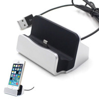 DOCKING CHARGER IPHONE USB + KABEL DATA 5 5s 6 6s 6 plus 7 7+ 7plus