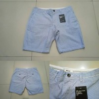 Celana Pendek Pria Mexx Light Blue Stripes Short Pants Original